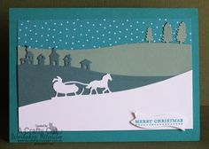 =A Crafty Cat: 2015 Christmas - Stampin' Up! Sleigh Ride edgelits