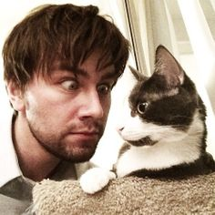Torrance Coombs: so much cat action on his Twitter account