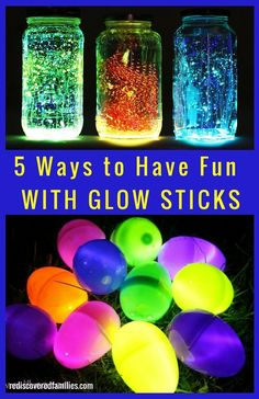 Children love glow in the dark activities. These glow stick ideas are SO MUCH FUN! Grab a package (or two) and get ready to wow your kids.