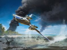 Rogue One TIE Striker, card art for FFG's X-wing