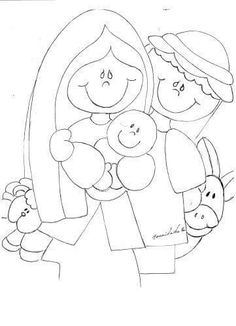De la web Kids Christmas Ornaments, Christmas Nativity, A Christmas Story, Christmas Colors, Christmas Art, All Things Christmas, Easter Coloring Sheets, Colouring Pages, Nativity Crafts