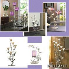 Gorgeous Candleholder Decor. Great Gifts!  Www.yellowlady.biz #yellowladyliving