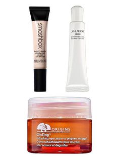 "Luminizing eye creams add instant radiance that says, ""No, I didn't stay up until 1 a.m. binge-watching Girls!"" Origins GinZing Refreshing Eye Cream: Put some zing under your eyes with caffeine and ginseng. Smashbox Hydrating Under Eye Primer: This is an excellent first step to prime, hydrate, depuff and instantly brighten the under-eye area. Your concealer will love you for it. Shiseido Ibuki Correcting Eye Cream: You'll love the rose gold luminescence in this lightweight eye cream. It…"