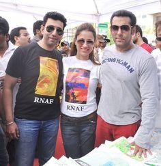 Salman Khan at Rouble Nagi's Art Camp for Underprivileged Kids.