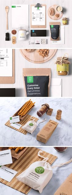 This fantastic set of 2 pre-made mock-up scenes you can use to showcase your food branding projects. Each PSD file includes an assortment of items and full - posted under Freebies tagged with: Backage Design, Bag, Branding, Business Card, Display, Food, Free, Graphic Design, MockUp, Presentation, PSD, Resource, Showcase by Fribly Editorial