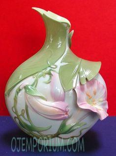 Image detail for -large franz franz porcelain morning glory collection signed vase franz