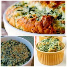 sufle de espinafre e queijo