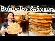 Mexican Food Recipes Video Mexican Food Recipes The BEST Mexican Buñuelos & Syrup! Pronounced boon/whale/oh. Buñuelos are Soft, Crispy, and Flaky in texture they can be dipped in syrup or with some ci Mexican Bunuelos Recipe, Mexican Pasta Recipes, Mexican Dishes, Mexican Desserts, Mexican Cooking, Caldo Recipe, Bunuelo Recipe, Pozole Recipe, Mexican Food Recipes