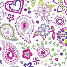 Paisley: Margaret 1 fabric by amandac