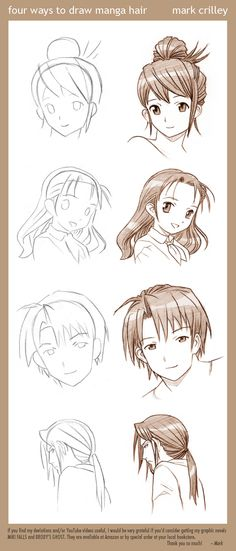 Mark Crilley anime hair styles.