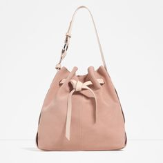 LEATHER BUCKET BAG WITH KNOT-View all-BAGS-WOMAN | ZARA United States