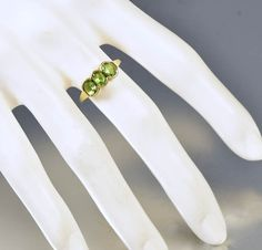 Vintage English Gold Peridot Wedding Band Ring   #intage #9K #Band #English #Peridot #Gold #wedding #Ring #Vintage #Margot