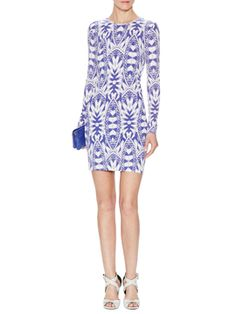Mercedes Lumen Matte Jersey Dress from Nicole Miller on Gilt