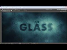 AFTER EFFECTS - Animar a fonte, como se estivesse atrás de um vidro