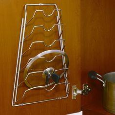 KITCHEN ORGANIZATION IDEAS - Cabinet Door Lid Rack