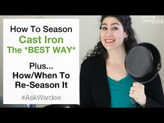 Cast iron is the best non-stick cooking method! Watch listen or read for the best cast iron seasoning plus how to know when to re-season cast iron. Season Cast Iron Skillet, Cast Iron Skillet Cooking, Iron Skillet Recipes, Cast Iron Recipes, Reseason Cast Iron, Cast Iron Care, Seasoning Cast Iron, Cast Iron Cookware, Vape Tricks
