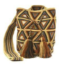 Wayúu Mochila embellished with Czech crystals. Shop online www.kurubaa.com. International Shipping Available