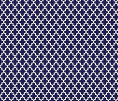 Navy Blue Moroccan fabric by jenniferstuartdesign on Spoonflower - custom fabric