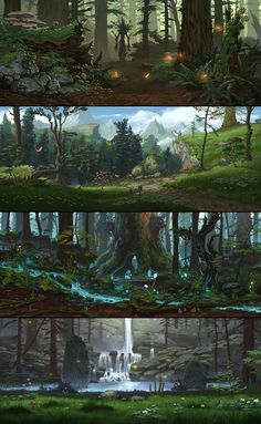 Environment art for Everquest Next , ambience, props and texture details, made as a freelance artist for DayBreak Company. (Art direction of the developpers was the starting point ) Fantasy City, Fantasy Forest, Fantasy Places, Fantasy Kunst, Fantasy World, Fantasy Art Landscapes, Fantasy Landscape, Landscape Art, Fantasy Concept Art