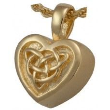 Irish Heart of Gold Celtic Knot Urn Jewelry