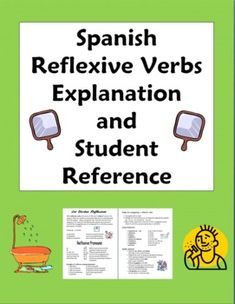 Spanish Reflexive Verbs Explanation and Student Reference