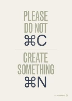 Please create something new!