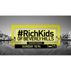 Can you believe it? This Sunday is the SEASON FINALE of #RichKids! 😫