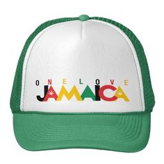 #custom #Jamaican Themed #gifts #hat #JunkyDotCom -  Jamaica Colors Text Design Hat