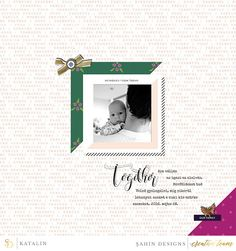 Digital scrapbook page on Sahin Designs using Ramadan digital scrapbook collection. Click through to see more layouts like this or simply pin to save for a later time!