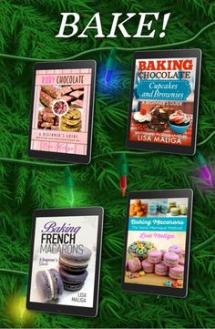From French and Swiss macarons to chocolate brownies, cupcakes and ruby chocolate treats -- give these memorable cookbooks as gifts! Available in eBook & paperback formats! Chocolate Treats, Chocolate Brownies, Chocolate Cupcakes, Dessert Cookbooks, Book Categories, Book Trailers, Wonderful Recipe, French Pastries, Macaroons