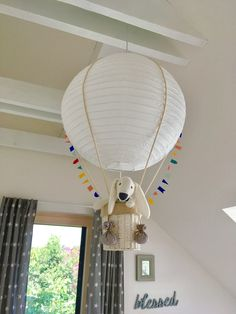 paper lantern for kids room, hot air balloon