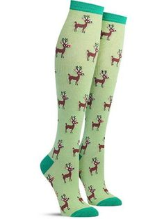 Christmas Reindeer Socks - Knee High