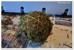 Krek Wak Wou: DIY: rustieke decoratie- en mosballen November 2013, How To Dry Basil, Diys, Coconut, Herbs, How To Make, Bricolage, Do It Yourself, Herb
