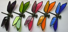 Stained glass dragonfly pond | #StainedGlassDragonfly