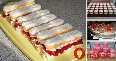 To je nápad! Something Sweet, Sweet Desserts, No Bake Cake, Vanilla Cake, Ham, Cheesecake, Deserts, Food And Drink, Sweets