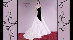 siyah beyaz elbise çizimi - YouTube