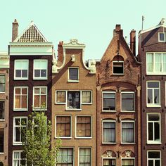 Canal houses in Amsterdam, The Netherlands. #greetingsfromnl