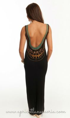Swoop Back Maxi, $42.00