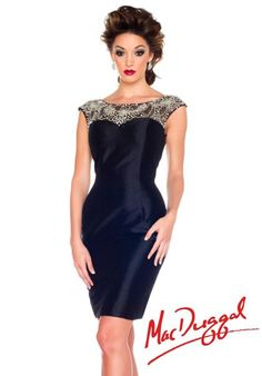 MacDuggal Homecoming Cocktail Dress 61550R at Peaches Boutique