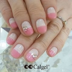 Today's Calgel nails Colors CG01 CG46 CGPI04+ CG51 #Calgel #MogaBrookUSA #GelNails #NailArt #Calgelus #Nail #Nails #Pink #Fashion #Art #naildesign #beauty #SoftGelNail #SoftGel