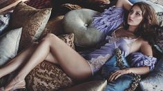 Stephanie Seymour's Flutter with Luxury Lingerie