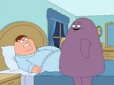 """When Lois role plays as Grimace from McDonald's. 