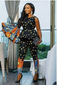 Rock the Latest Ankara Jumpsuit Styles these ankara jumpsuit styles and designs are the classiest in the fashion world today. try these Latest Ankara Jumpsuit Styles 2018 African Print Fashion, Africa Fashion, African Fashion Dresses, Fashion Prints, Ankara Fashion, African Prints, African Outfits, African Attire, African Wear