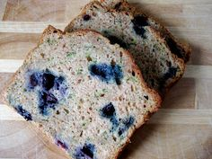 Low Fat Blueberry Zucchini Bread | The Speed of Life