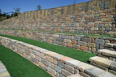 Get inspired by the Keystone Retaining Wall Systems photo gallery to spark your imagination with the standard for excellence in the segmental industry. Keystone Retaining Wall, Retaining Wall Blocks, Block Wall, Landscape Walls, Brick, Photo Galleries, Landscaping, Home And Garden, Yard