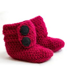 Look at this Korke Kids Cranberry Wool-Blend Ankle Booties on #zulily today!