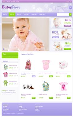 Baby Store osCommerce Templates by Hermes