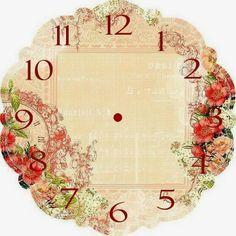 ... Clock Printable, Clock Craft, Victorian Valentines, Vintage Sheets, Decoupage Paper, Vintage Crafts, Creations, Scrapbooking, Paper Crafts