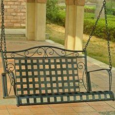 Metal Scroll Porch Swing