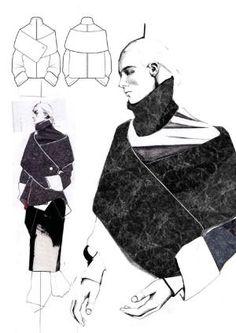 Fashion Sketchbook - fashion design drawings; fashion illustration; fashion portfolio layout; collection development // Andrew Voss by sallie